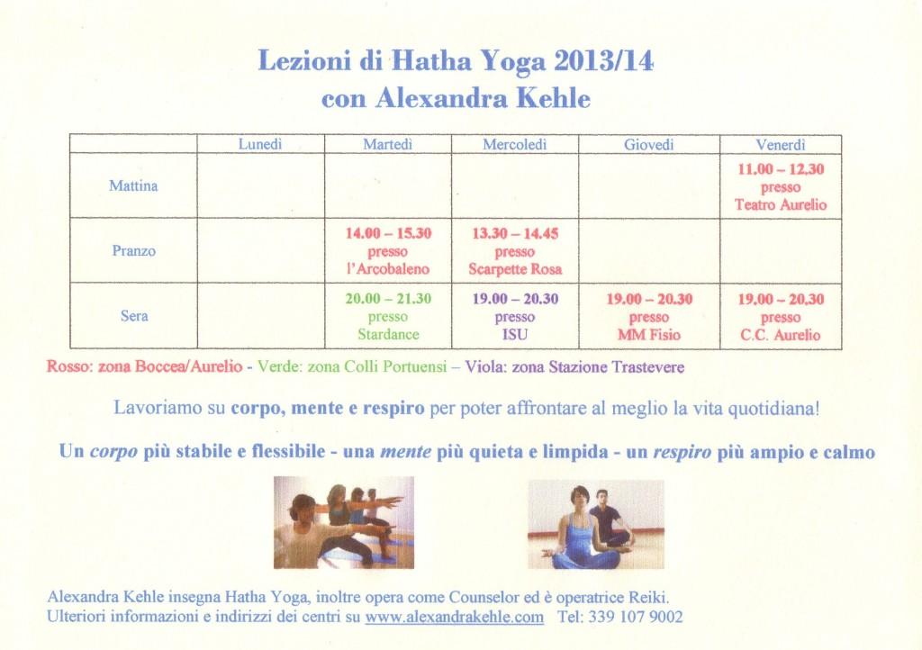 Lezioni Yoga 2013_14 II
